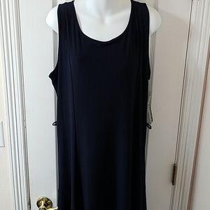 Nina Leonard Navy Blue Stretchy sleeveless dress